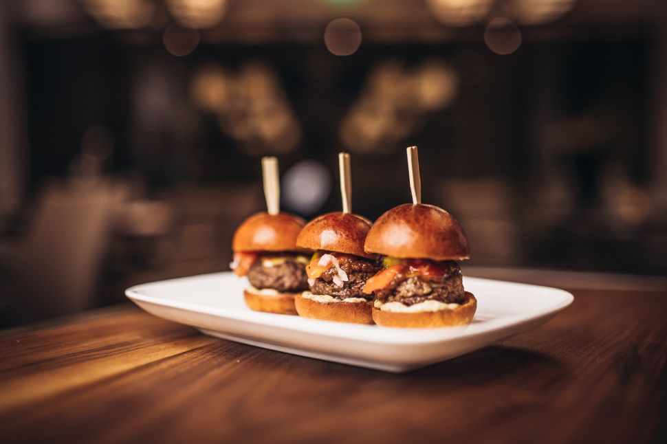 Mini burgers at CUT New York.