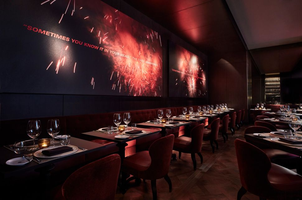 The dining room at CUT New York.