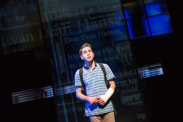Ben Platt in Dear Evan Hansen.