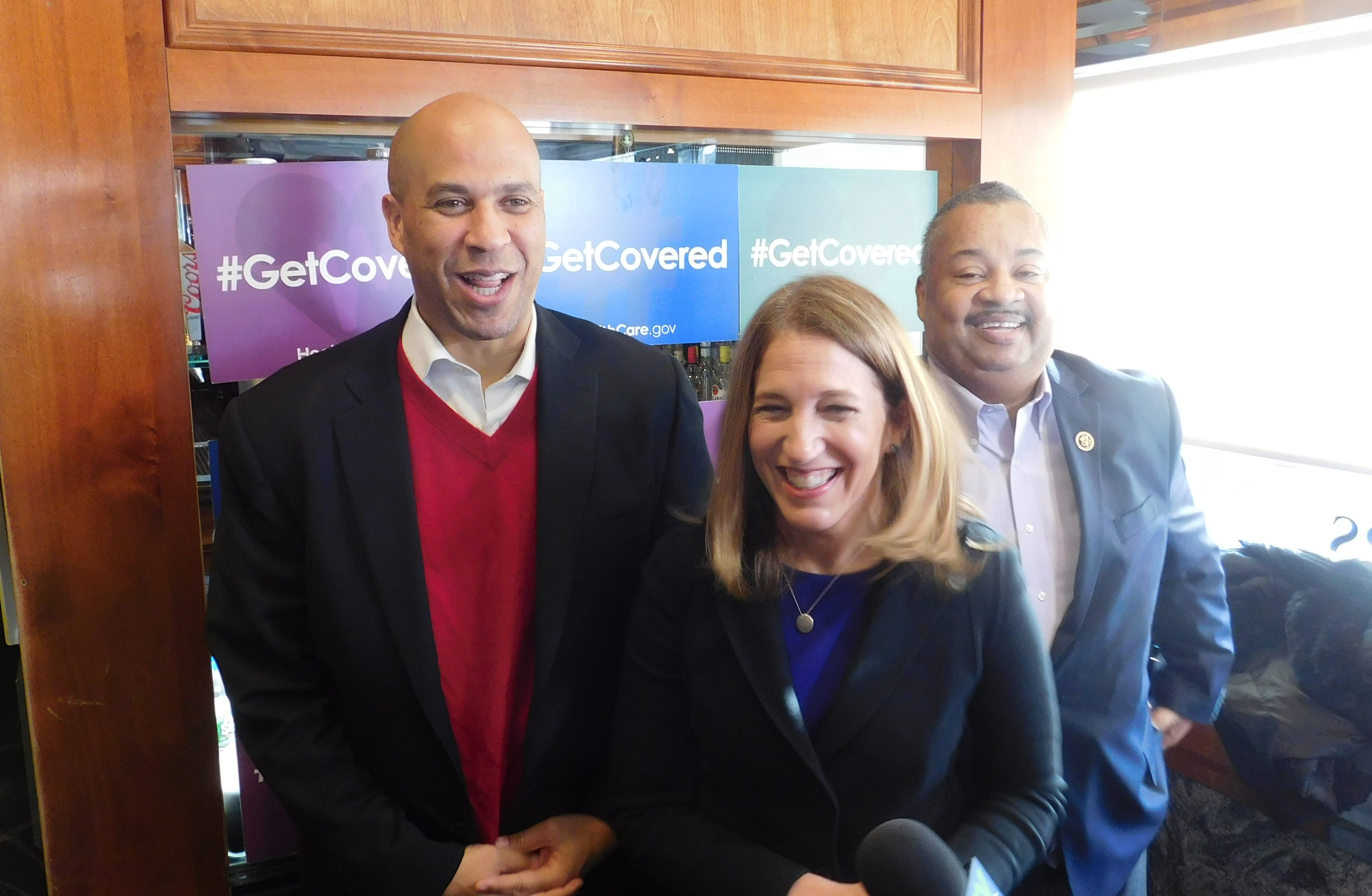 Booker, Burwell and Payne at the Tops Diner in East Newark.