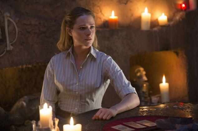 Evan Rachel Wood as Dolores Abernathy.