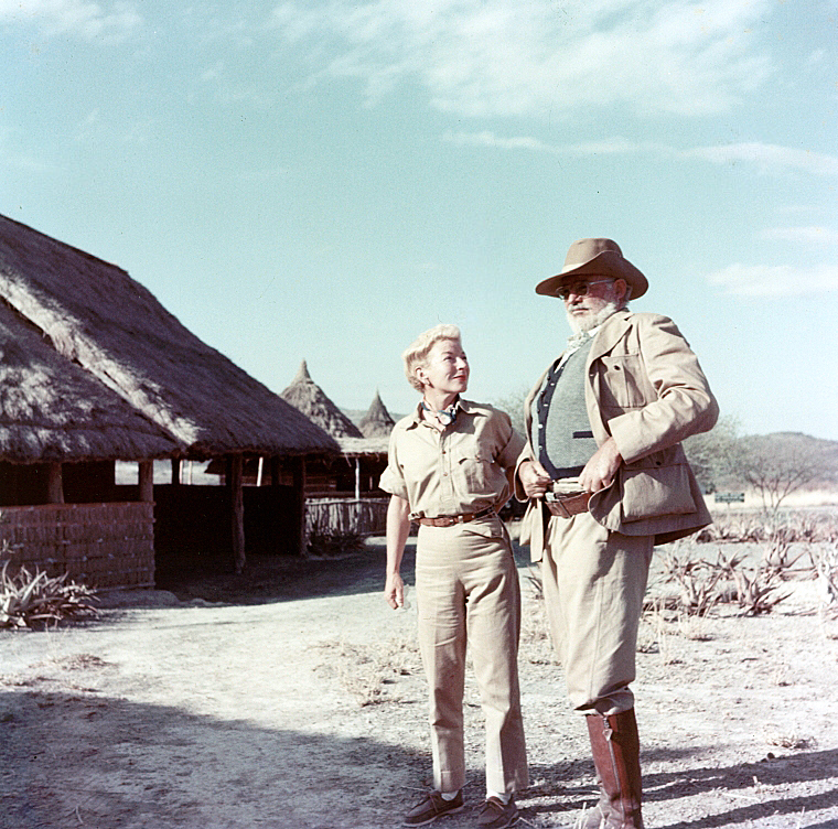 Ernest and Mary Hemingway on safari in Africa, 1953-1954.
