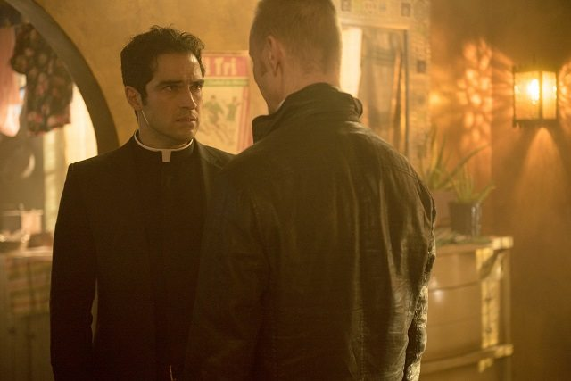 Alfonso Herrera as the world's sexiest priest and Ben Daniels as some other guy in The Exorcist.