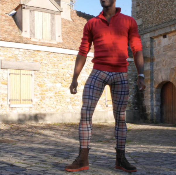 Plaid meggings by Meggingsman
