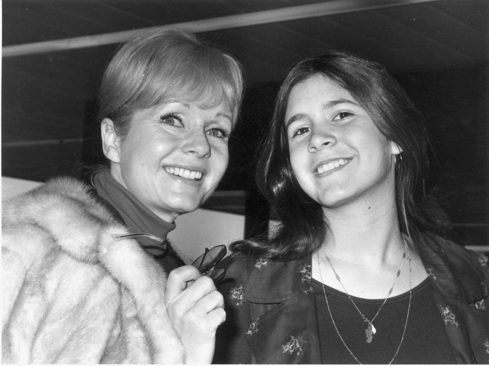 Actress Debbie Reynolds with her daughter Carrie Fisher.