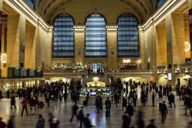 """A New York City transit worker who is a Muslim was pushed down a flight of stairs and called a """"terrorist"""" at Grand Central Station on Monday."""