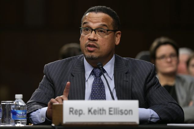 Rep. Keith Ellison (D-MN) testifies before the Senate Judiciary Committee's Constitution, Civil Rights and Human Rights Subcommittee December 9, 2014 in Washington, DC.