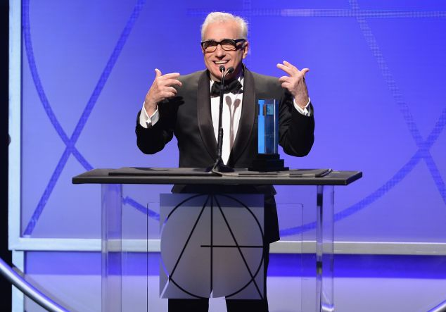 Martin Scorsese speaks at the 18th Annual Art Directors Guild Exellence In Production Design Awards at The Beverly Hilton Hotel.