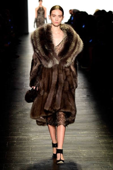 A Dennis Basso fur coat, from the Fall 2016 collection.