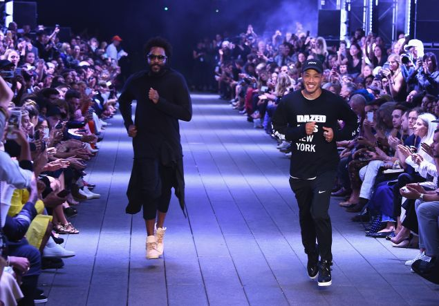 Maxwell Osborne and Dao-Yi Chow take a bow at DKNY.