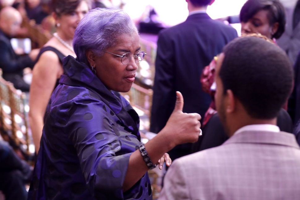 """Democratic National Committee interim chair Donna Brazile attends the BET's 'Love and Happiness: A Musical Experience"""" in a tent on the South Lawn of the White House October 21, 2016 in Washington, DC."""