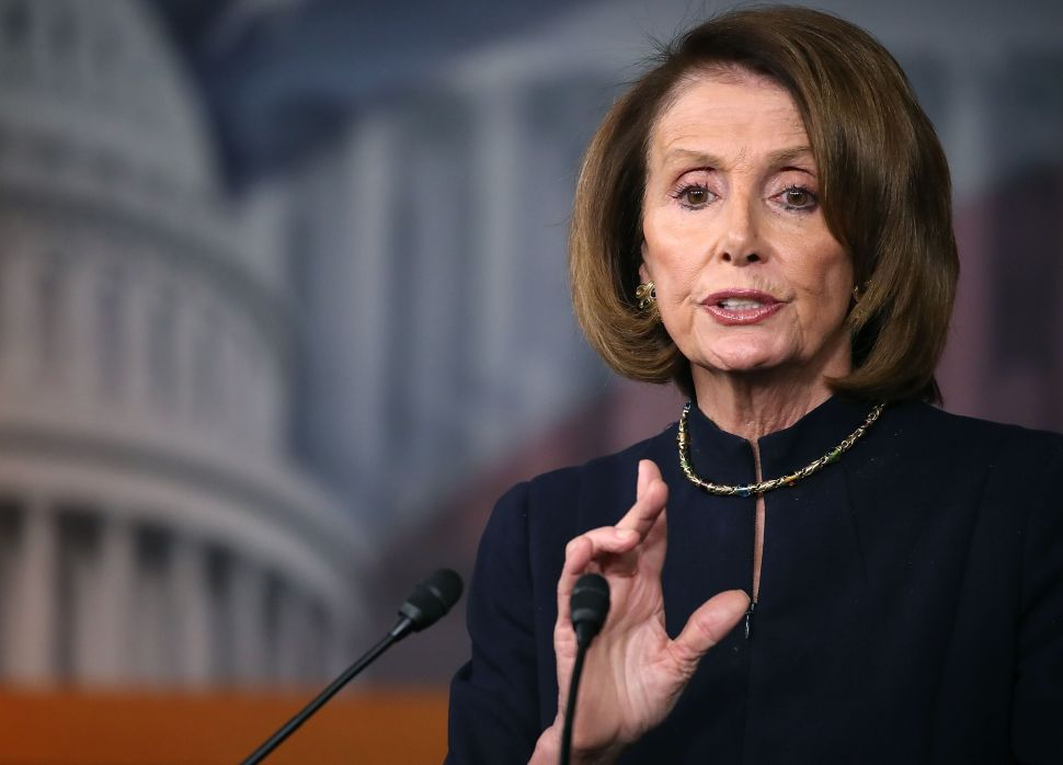 House Minority Leader Nancy Pelosi speaks to the media during her weekly news conference on Capitol Hill, December 2, 2016 in Washington, DC.