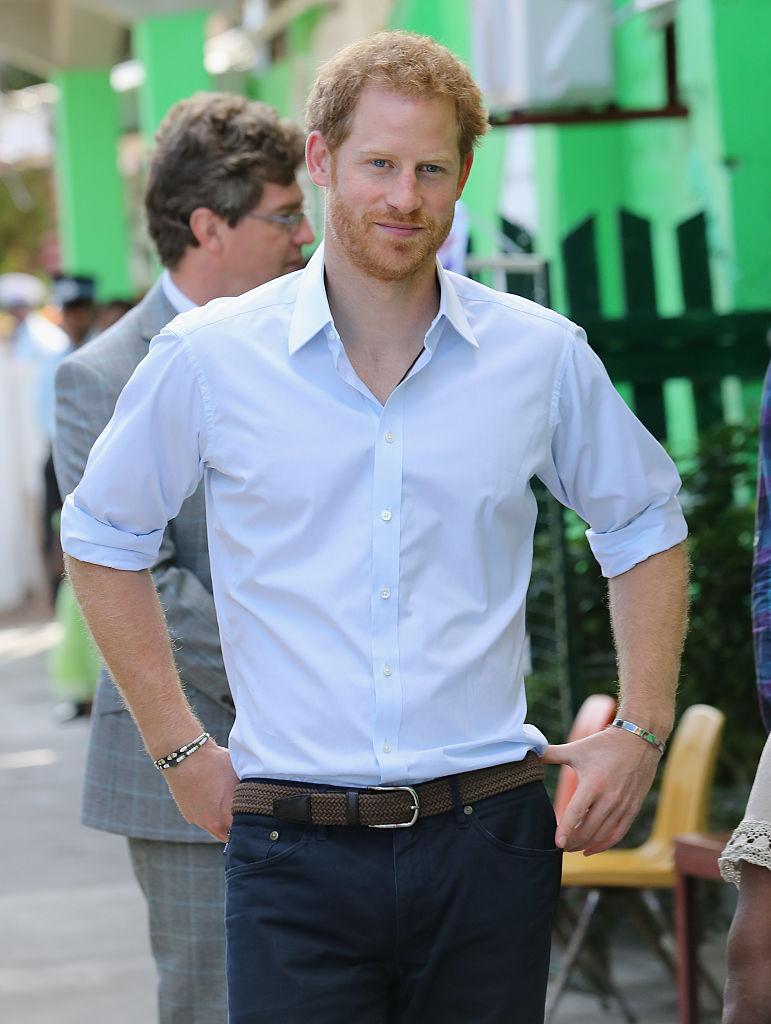 Prince Harry's bracelet.