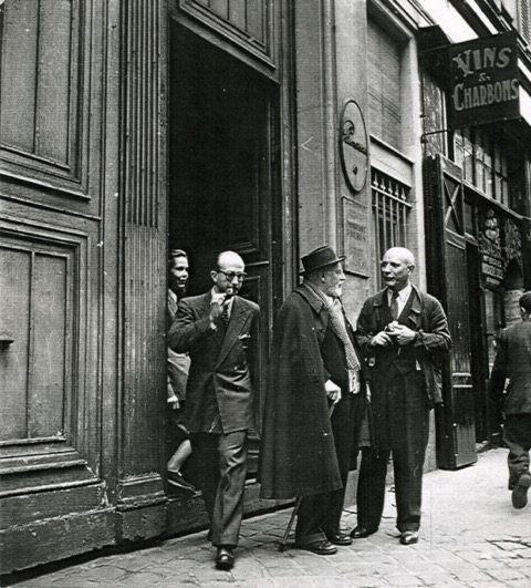 Henri Matisse and Fernand Mourlot in Paris in 1946.