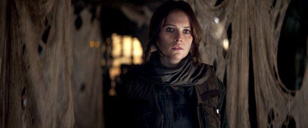 Felicity Jones as Jyn in Rogue One.