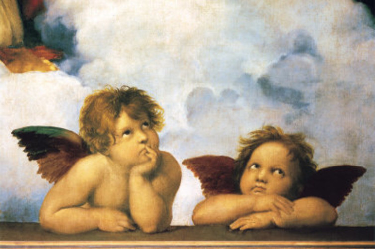 Raphael's angels may be gender-neutral but children worldwide are raised differently according to their genders.