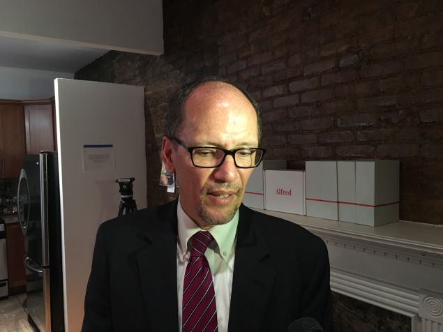U.S. Labor Secretary Thomas Perez visited NYC-based start-up Hello Alfred today.