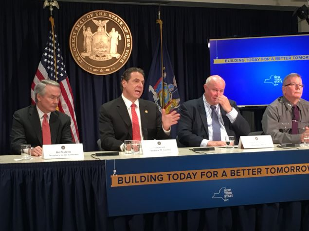 Gov. Andrew Cuomo speaks at a press conference.