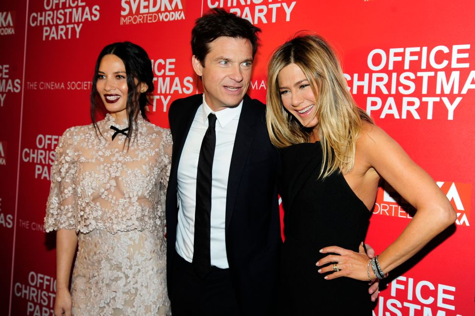 Jennifer Aniston, Jason Bateman, Olivia Munn.