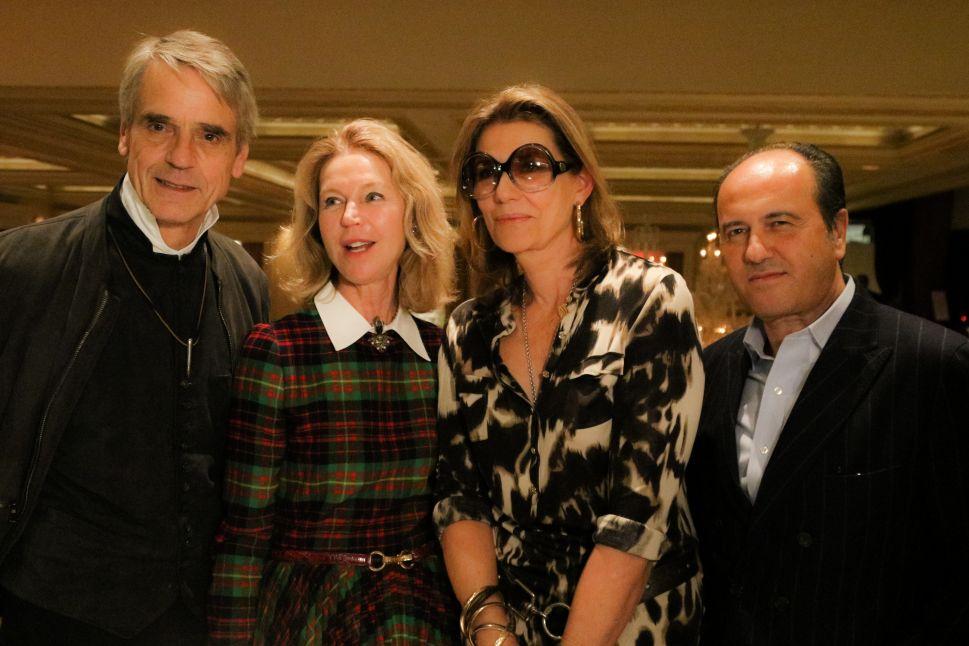 Jeremy Irons, Francesca Bortolotto Possati, Martina Assouline, Prosper Assouline.