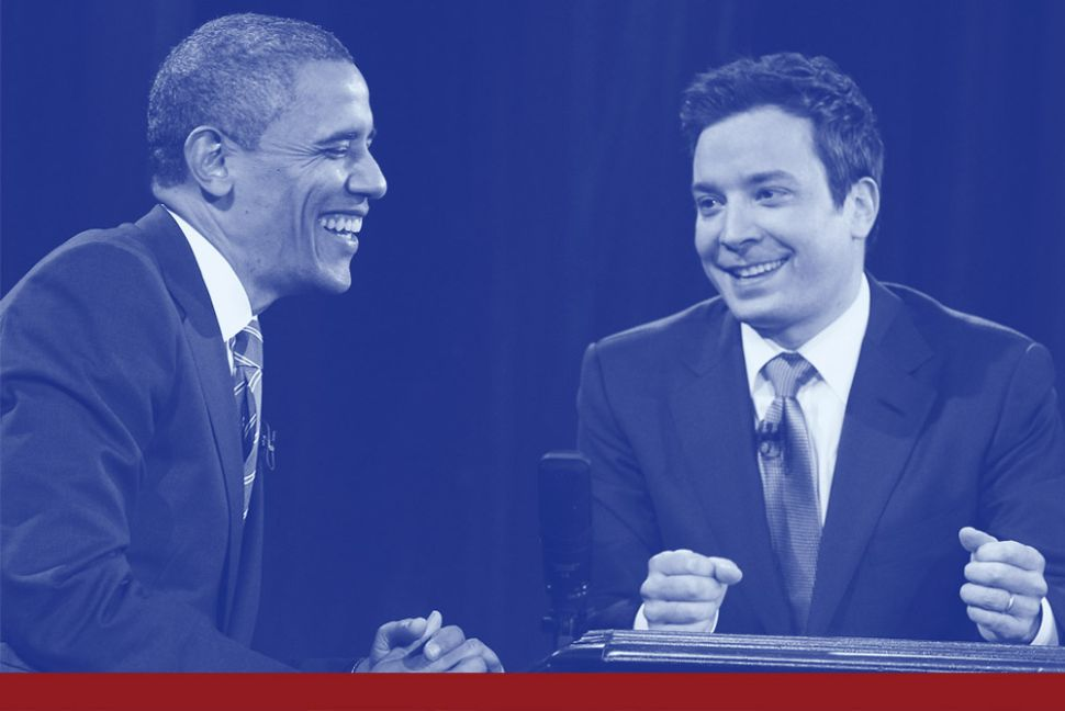 U.S. President Barack Obama appears on Late Night with Jimmy Fallon.