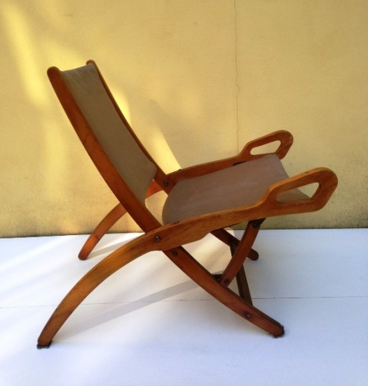 "1950s Folding Beech Chair ""Ninfea"" by Gio Ponti"