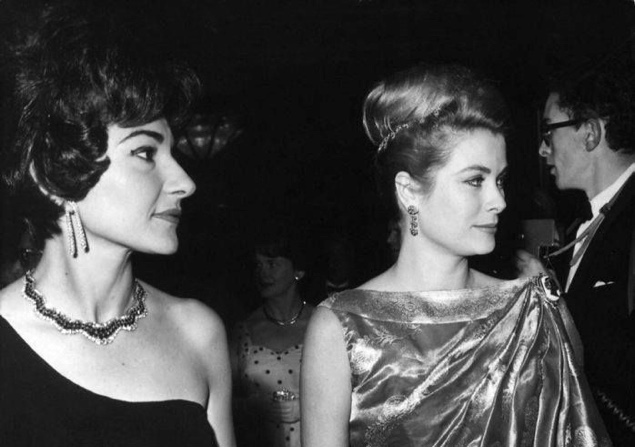 Royals: Maria Callas and Princess Grace of Monaco, 1962.