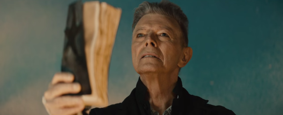 "David Bowie in the video for ""Black Star""."