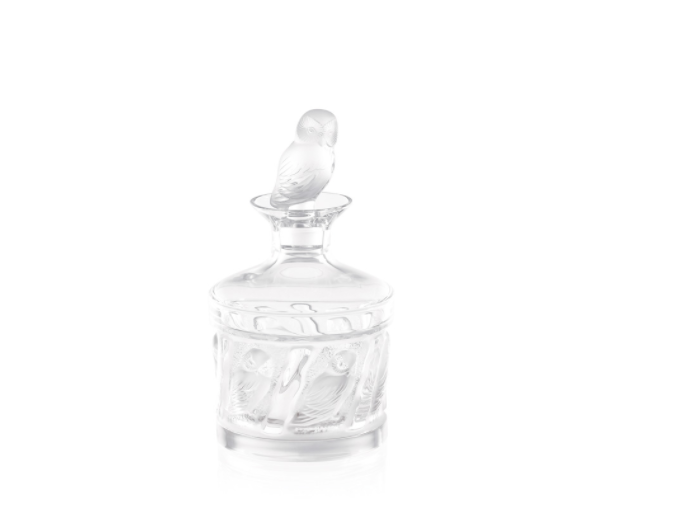 Owl decanter by Lalique.