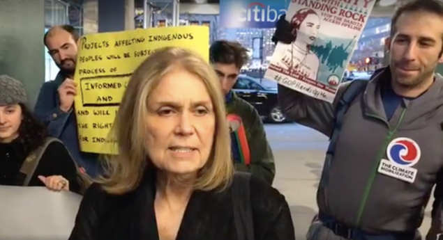 Gloria Steinem at the protest.
