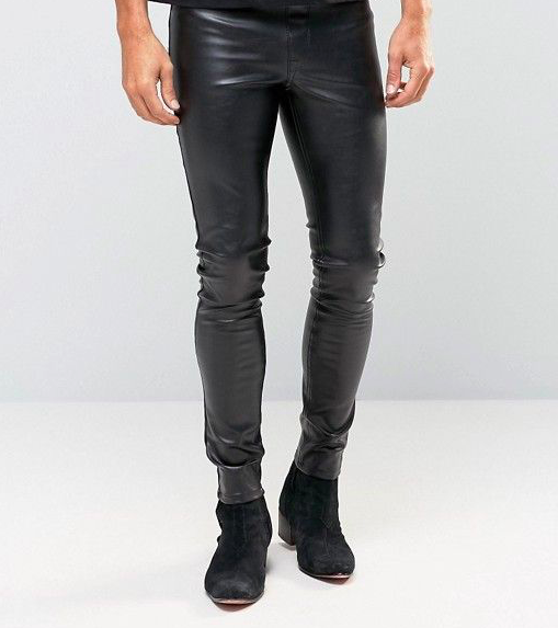 Faux leather meggings by ASOS