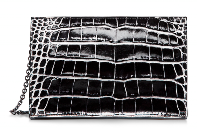 Calvin Klein Collection Small Two Tone Alligator Clutch, $7,995, tk.