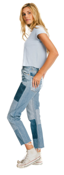 Re/Done Relaxed Straight Denim Patch, $375, Shopredone.com.