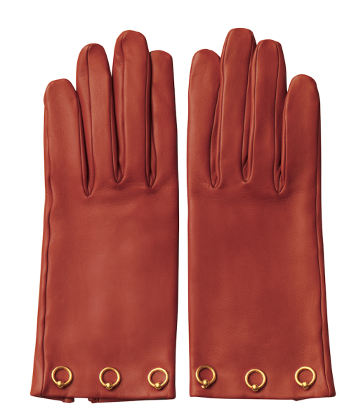 Hermès Gloves in Glazed Lambskin, $1,025, Available at Hermès stores nationwide. Call 1-800-441-4488 or Hermes.com.