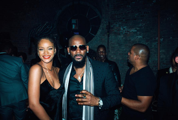 Rihanna and R. Kelly joined the party.