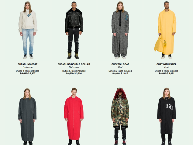 Off-White's Men's catalogue might just force you into bankruptcy.