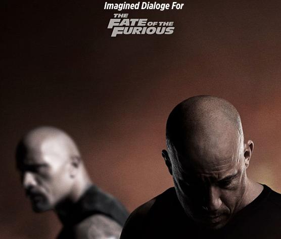 """Dwayne Johnson as Luke Hobbs and Vin Diesel as Dominic """"Dom"""" Toretto."""