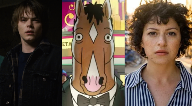 Stranger Things, Bojack Horseman, and Search Party.