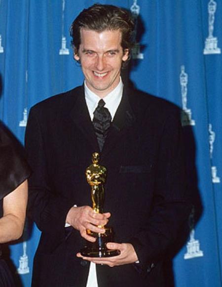 Peter Capaldi and his Oscar