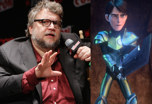 Left: Guillermo del Toro, Right: Netflix's Trollhunters.
