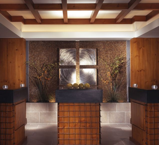 The relaxing interior of the spa at the Stowe Mountain Lodge.