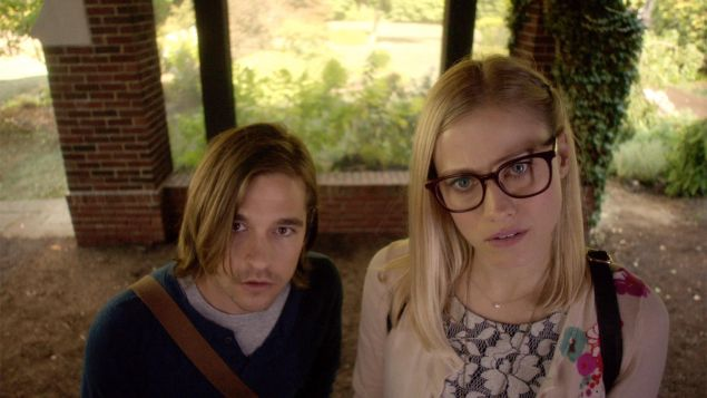 Jason Ralph and Olivia Taylor Dudley in The Magicians.