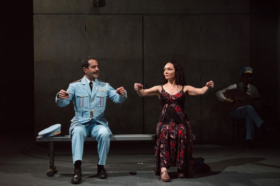 Tony Shalhoub and Katrina Lenk in The Band's Visit.