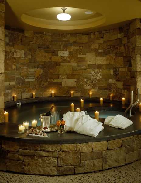 A relaxing pool in the spa at the St. Regis Aspen.
