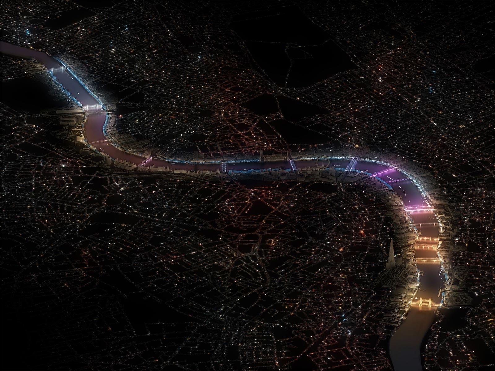 Artist Leo Villareal and Lifschutz Davidson Sandilands have won the Illuminated River International Design Competition.