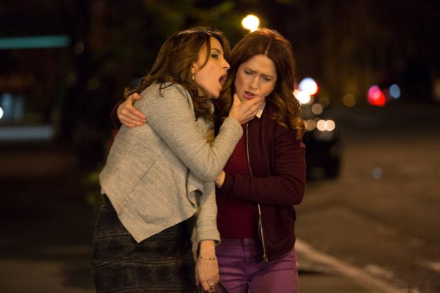 Tina Fey and Ellie Kemper in Unbreakable Kimmy Schmidt.