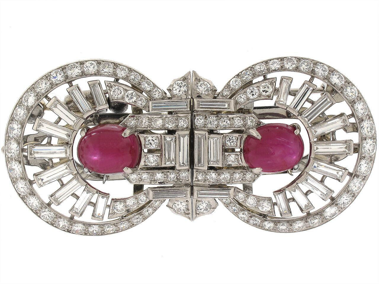 Art Deco ruby and diamond.