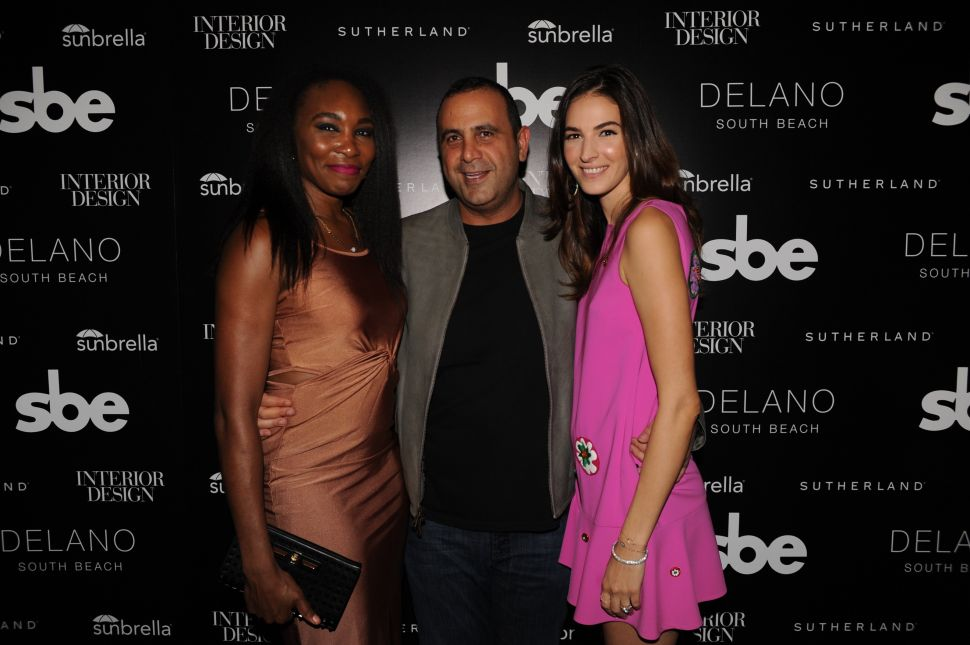Venus Williams, Sam Nazarian, Emina Nazarian