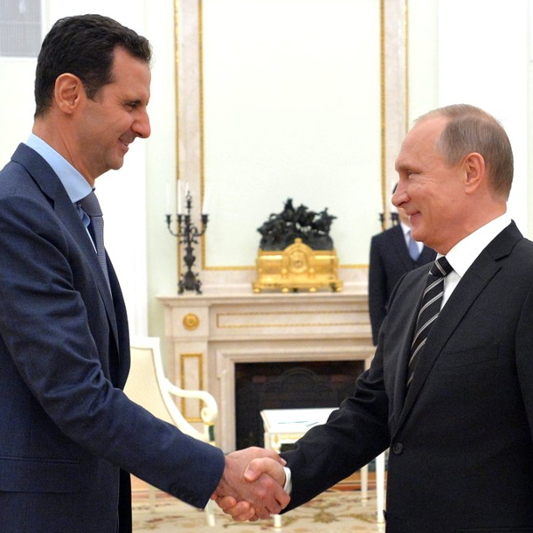 Bashar Al Assad and Vladimir Putin.