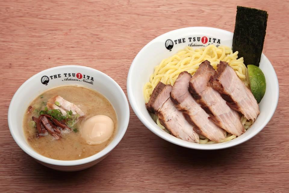 Dip The Tsujita's tsukemen noodles in broth for the perfect bite in Glendale.